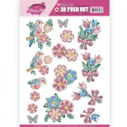 (SB10413)3D Pushout - Yvonne Creations - Floral Pink (Kitschy Lala) - Kitchy Flowers