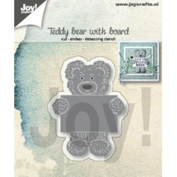 (6002/1308)Cutting embossing debossing dies Teddy bear with board