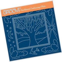(GRO-TR-41394-03)Groovi Plate A5 PANORAMIC ONE TREE