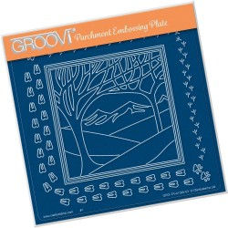 (GRO-TR-41395-03)Groovi Plate A5 PANORAMIC TWO TREES