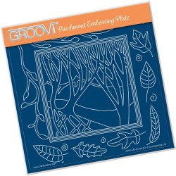 (GRO-TR-41396-03)Groovi Plate A5 PANORAMIC THREE TREES