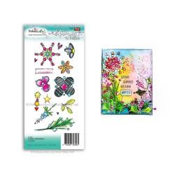 (PD7986)Polkadoodles Floral Fireworks 1 Clear Stamp