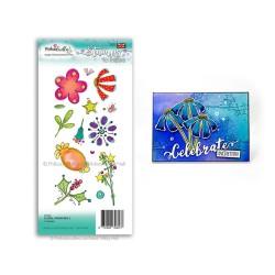 (PD7987)Polkadoodles Floral Fireworks 2 Clear Stamp