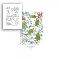 (PD7989)Polkadoodles Ho Ho Holly Clear Stamps