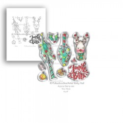 (PD7990)Polkadoodles Jingle Bells Clear Stamps