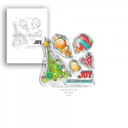 (PD7992)Polkadoodles Deck the Halls Clear Stamps