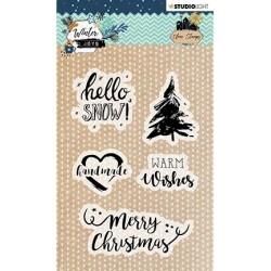 (STAMPWJ418)Studio light Stamp, Winter Joys nr.418