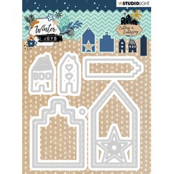 (STENCILWJ228)Studio Light Cutting & Embossing Die Winter Joys nr.228