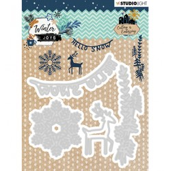(STENCILWJ229)Studio Light Cutting & Embossing Die Winter Joys nr.229