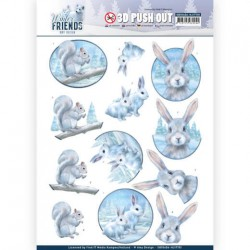 (SB10406)3D Pushout - Amy Design - Winter Friends - Arctic Friends
