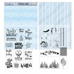 (ADMC1006)Mica Sheets - Amy Design - Winter Friends