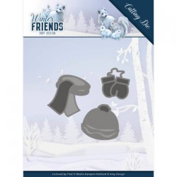 (ADD10196)Dies - Amy Design - Winter Friends - Warm Winter Clothes