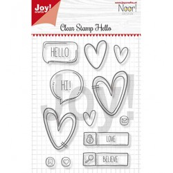 (6410/0497)Clear stamp Hello