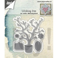 (6002/1410)Cutting embossing debossing dies Wishing tree
