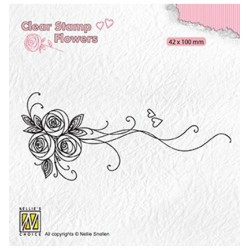 (FLO020)Nellie`s Choice Clearstamp - Bouquet roses-1