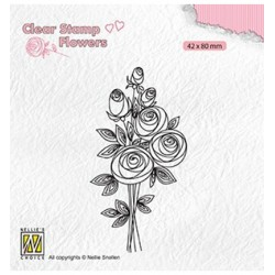 (FLO021)Nellie`s Choice Clearstamp - Bouquet roses-2