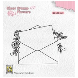 (FLO023)Nellie`s Choice Clearstamp - Love letter