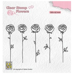 (FLO025)Nellie`s Choice Clearstamp - Roses