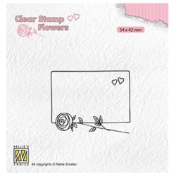 (FLO024)Nellie`s Choice Clearstamp - Frame with rose