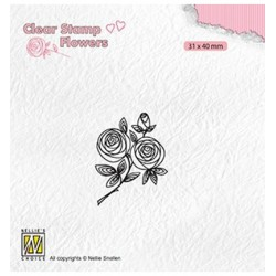 (FLO026)Nellie`s Choice Clearstamp - Rose twig