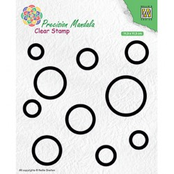 (MANCS003)Nellie`s Choice Clearstamp - Circles