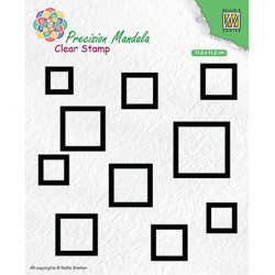 (MANCS004)Nellie`s Choice Clearstamp - Squares