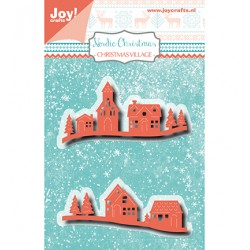 (6002/1424)Cutting embossing dies Christmas village