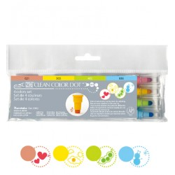 (TC-6100/4V)Zig Clean Color Dot 4 color set
