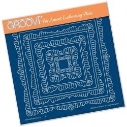 (GRO-PA-41409-03)Groovi Plate A5 LINDA'S NESTED DOILEY FRAMES