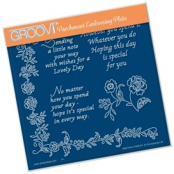 (GRO-WO-41408-03)Groovi Plate A5 SPECIAL DAY SENTIMENTS