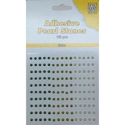 (APS302)Nellie`s Choice Adhesive pearls 3mm Green