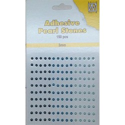 (APS303)Nellie`s Choice Adhesive pearls 3mm Blue - Aqua