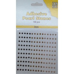 (APS305)Nellie`s Choice Adhesive pearls 3mm Bronze - Gold