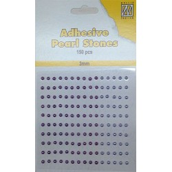 (APS306)Nellie`s Choice Adhesive pearls 3mm Lilac