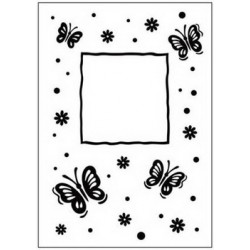 Embossing folder butterfly frame (CTFD 3040)