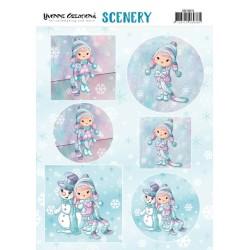 (CDS10015)Scenery - Yvonne Creations Lola Winterfun