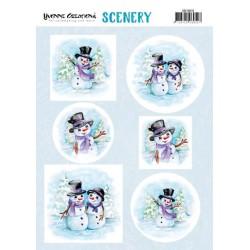 (CDS10016)Scenery - Yvonne Creations – Happy Snowmen