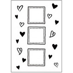 Embossing folder happy valentines (CTFD 3038)