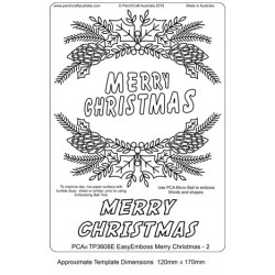 (TP3608E)PCA® - EasyEmboss Merry Christmas - 2