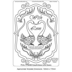 (TP3609E)PCA® - EasyEmboss Love Swans