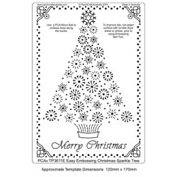 (TP3611E)PCA® - EasyEmboss Christmas Sparkle Tree