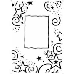 Embossing folder stars frame (CTFD 3031)