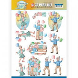 (SB10401)3D Pushout - Yvonne Creations - Active Life - Party Together