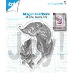 (6002/1404)Cutting embossing debossing dies magic feathers
