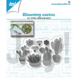 (6002/1416)Cutting embossing debossing dies blooming cactus