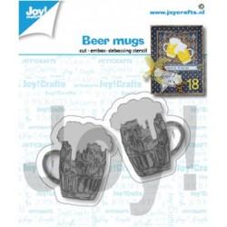 (6002/1421)Cutting embossing debossing dies beer mugs