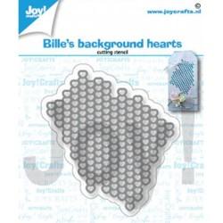 (6002/1363)Cutting dies Bille's background hearts
