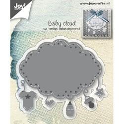 (6002/1408)Cutting embossing debossing dies Baby Cloud