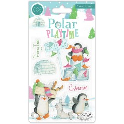 (CCSTMP023)Craft Consortium Polar Playtime Clear Stamps