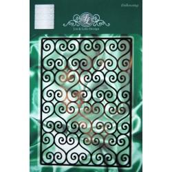 (1201/0057)Lin & Lene stencil background swirl